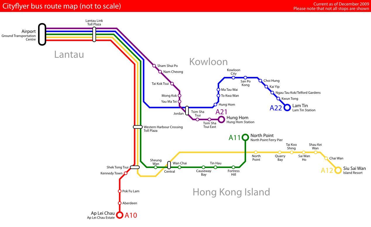 Hong Kong Island Bus Routes