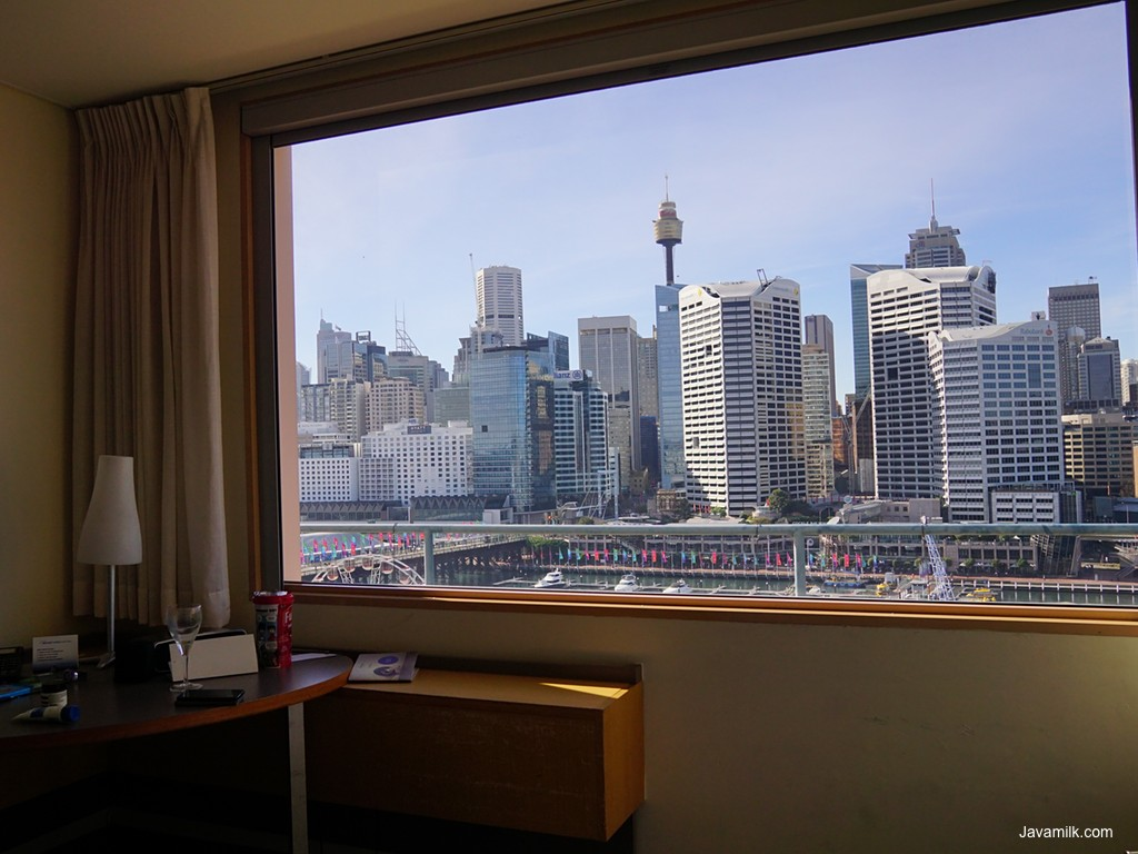 Novotel view ke Darling Harbour
