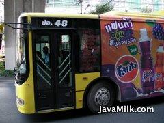 Bus kota Bangkok dalam bahasa Thai