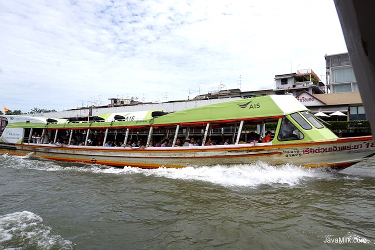 Chao Phraya River Boat, Orange Flag