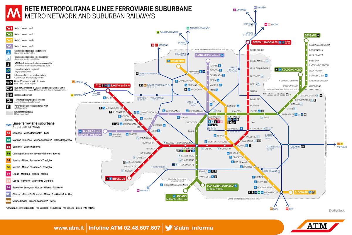 Peta Metro Milan