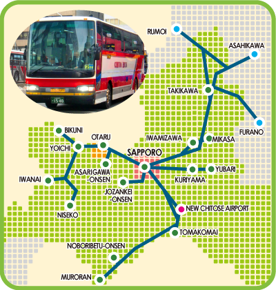 Rute yang dilayani Inter City Bus Pass