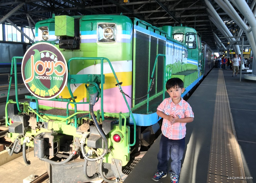 Norokko Train tiba di Asahikawa