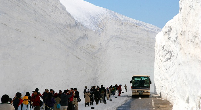 Snow Wall (yuki no otani) Walk