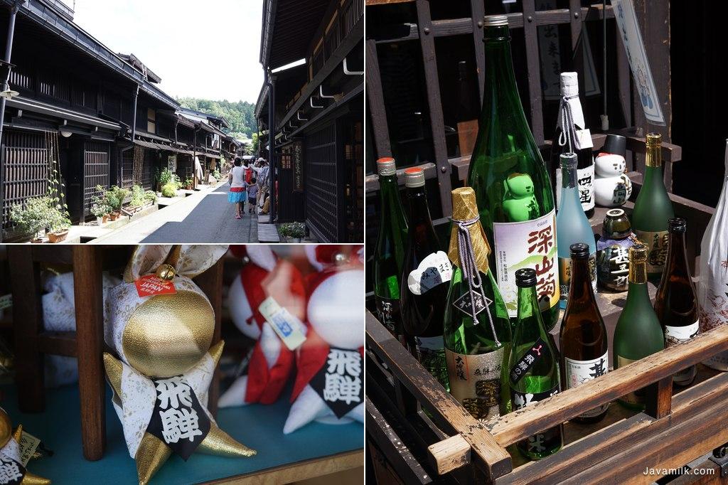 Old Town, Sake Factory, dan maskot Takayama