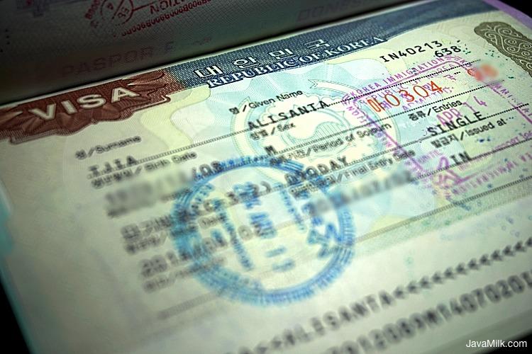 Cara Mengurus Visa Korea Sendiri Update 2019