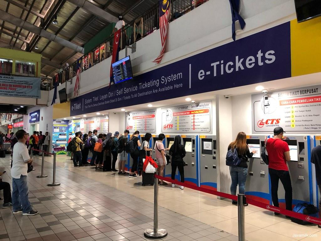 Mesin Tiket di Larkin Terminal