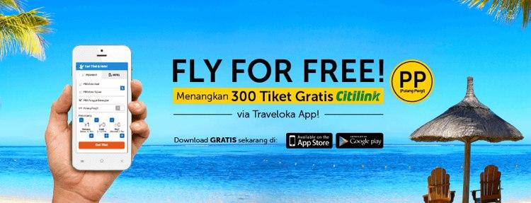 Promo Tiket Gratis dari Traveloka
